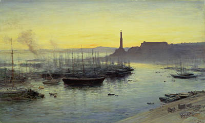 Sunset Painting - Genoa by John MacWhirter