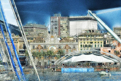Photograph - Genova Expo Area With Saint George Building by Enrico Pelos