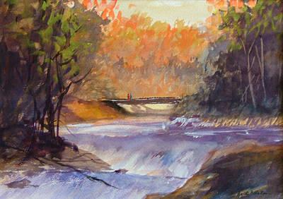 Gentle Falls Art Print