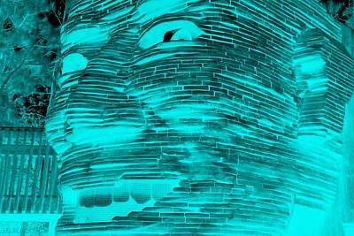 Digital Art - Gentle Giant In Negative Turquois by Rob Hans