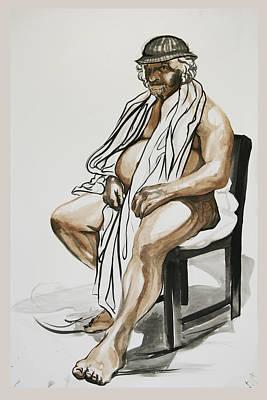 Gentleman In A Chair Art Print