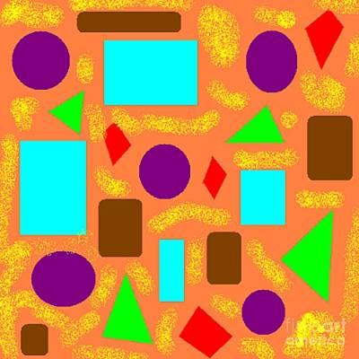 Geometric Abstract- Orange Art Print by Jeannie Atwater Jordan Allen