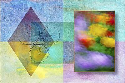 Petals Digital Art - Geometric Blur by Susan Candelario