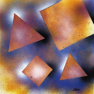 Spray Can Painting - Geometric Pattern by Hakon Soreide