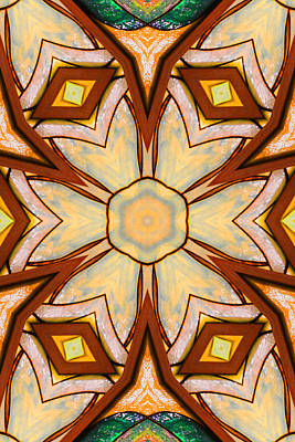 Geometric Stained Glass Abstract Art Print by Linda Phelps