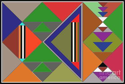 Painting - Geometric by Vilas Malankar