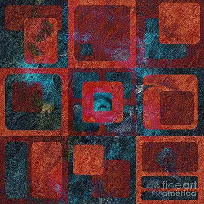 Red Abstracts Digital Art - Geomix 02 - Sp07c03b by Variance Collections