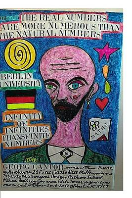 Infinite Numbers Georg Cantor Pastel - Georg Cantor by Francesco Martin