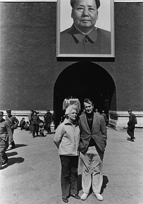 George And Barbara Bush Pose Art Print by Everett