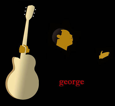 Mile Digital Art - George Benson by Victor Bailey