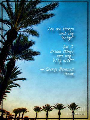Photograph - George Bernard Shaw Inspiration Quote by Joan  Minchak