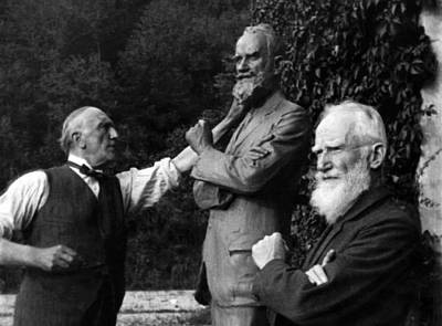 Ev-in Photograph - George Bernard Shaw Right, Poses by Everett