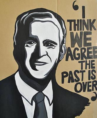 George Bush Painting - George Bush  by Ellie  Green