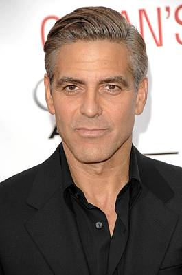 George Clooney At Arrivals For Oceans Art Print by Everett