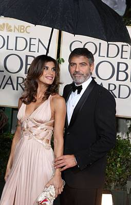 The 67th Annual Golden Globes Awards - Arrivals Photograph - George Clooney, Elisabetta Canalis by Everett