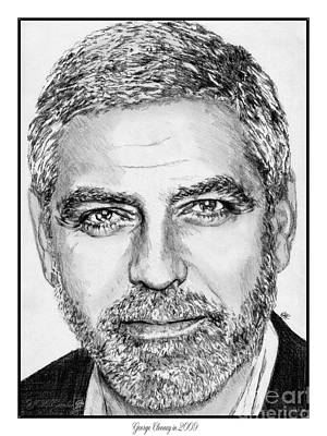 Drawing - George Clooney In 2009 by J McCombie