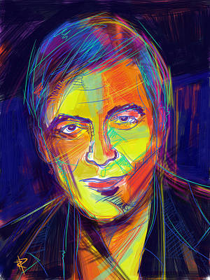 Mixed Media - George Clooney by Russell Pierce