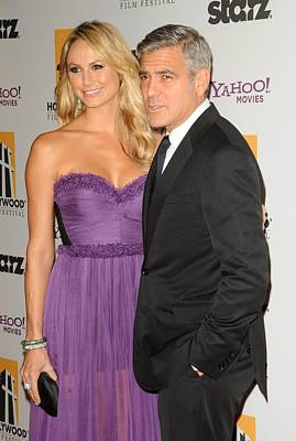 15th Annual Hollywood Film Awards Gala Ceremony Photograph - George Clooney, Stacy Keibler by Everett
