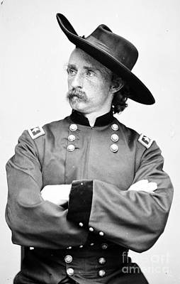 George Custer, American Calvary Officer Art Print by Photo Researchers
