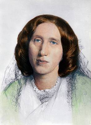 George Eliot 1819-1880 Was Born Mary Art Print by Everett