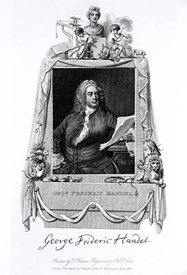 George Frideric Handel, German Baroque Art Print by Omikron
