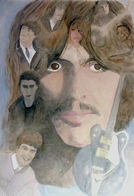 George Harrison Give Me Love Give Me Hope Art Print by Christian Lebraux Kennedy