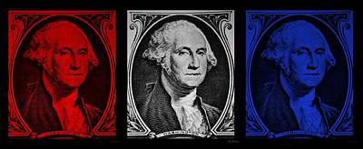 Potus Digital Art - George In Red White N Blue by Rob Hans