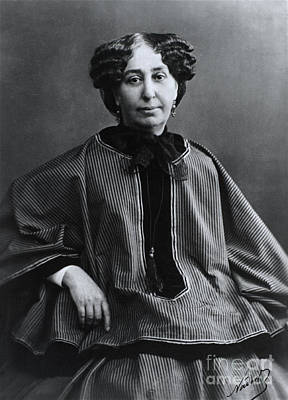 George Sand, French Author And Feminist Print by Photo Researchers, Inc.