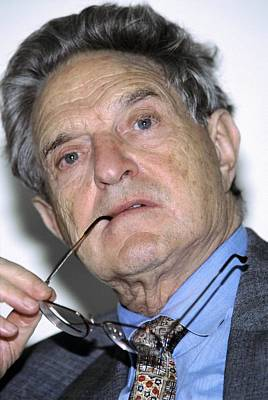 George Soros, Hungarian-us Financier Art Print