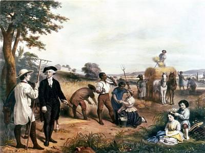 George Washington As A Farmer, Standing Art Print by Everett