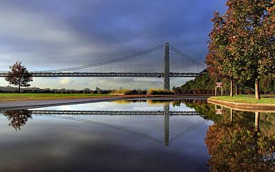 George Washington Bridge Reflections Art Print by Dave Sribnik