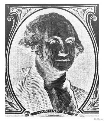 Photograph - George Washington In Negative by Rob Hans
