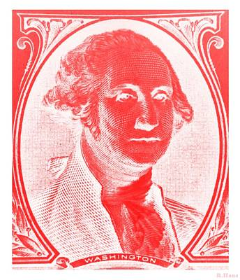 Photograph - George Washington In Red Negative by Rob Hans