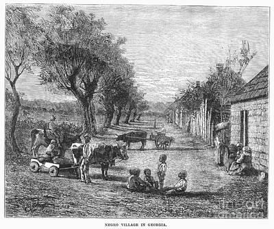 Photograph - Georgia: Black Village by Granger