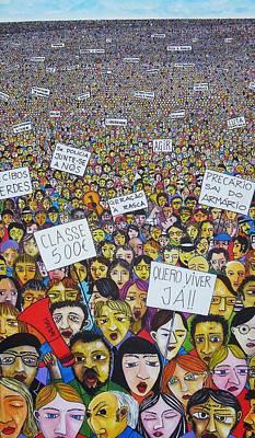 Geracao A Rasca Art Print by Mario Fresco