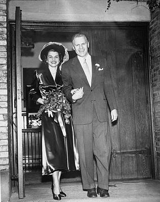 Gerald And Betty Ford Walk Out Of Grace Art Print
