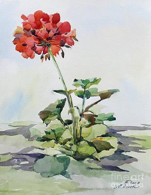 Painting - Geranium by Natalia Eremeyeva Duarte