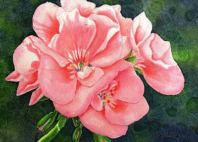 Painting - Geraniums by Debra Spinks