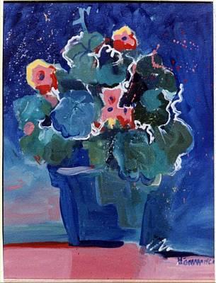 Wall Art - Painting - Geraniums by Pauline Hauder