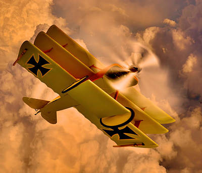 German Airplane Art Print by Gennadiy Golovskoy