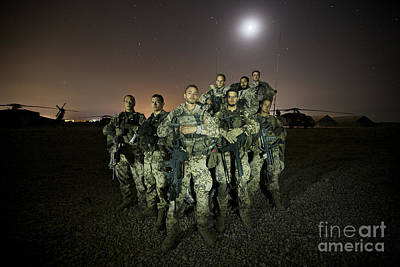German Army Crew Poses Art Print by Terry Moore