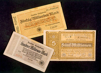 German Currency Issued Art Print