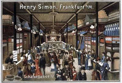 German Grocery Store, Historical Artwork Art Print