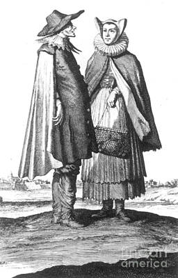 Antisemitism Photograph - German Jewish Couple, 1703 by Granger