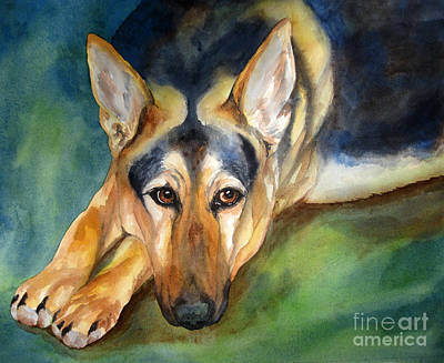 German Shepherd Original by Cherilynn Wood