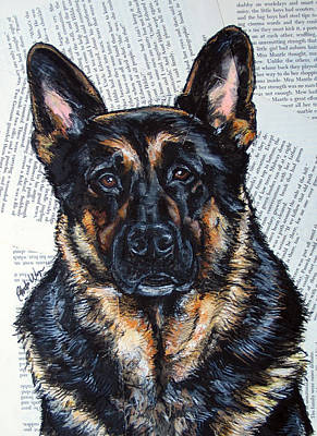 German Shepherd Headshot Art Print by Christas Designs