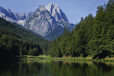 Y120831 Photograph - Germany, Bavaria, View Of Waxenstein Mountains And Lake Riessersee by Westend61