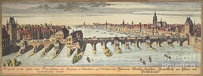 1730 Photograph - Germany: Frankfurt, 1730 by Granger