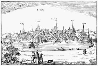Lubeck Photograph - Germany: L�beck, 1616 by Granger