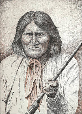 Drawing - Geronimo by Lawrence Tripoli